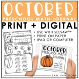 Preschool Math Journal: October - Use with Seesaw™ or Print