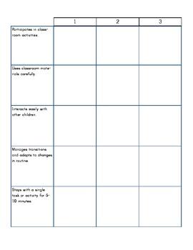 Preschool One-on-one Assessment