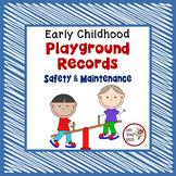 Preschool Organization Binder - Playground Documentation