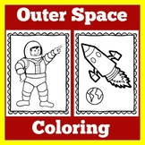 Outer Space Classroom Theme Coloring Activities