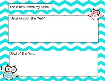 Preschool Owl Portfolio