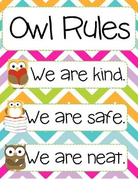 Preschool Owl Rules