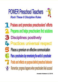 Preschool POWER Teacher Discipline Rules Chart