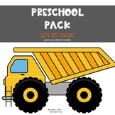 Preschool Pack: Let's Go Trucks {Literacy and Math Centers}