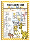 Preschool Packet African Animals
