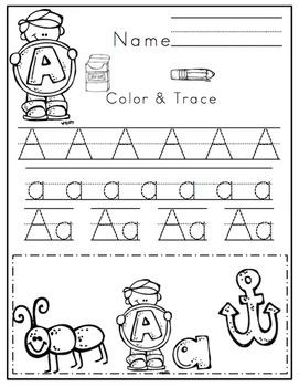 Preschool Packet Alphabet Fun
