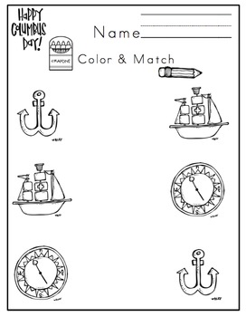 Preschool Packet Columbus Day
