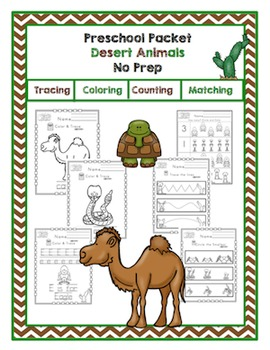 Preschool Packet Desert Animals