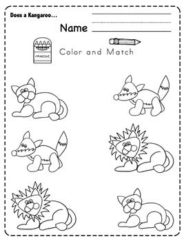"""Preschool Packet """"Does a Kangaroo Have a Mother, Too?"""""""