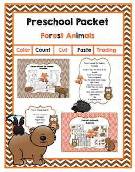 Preschool Packet Forest Animals