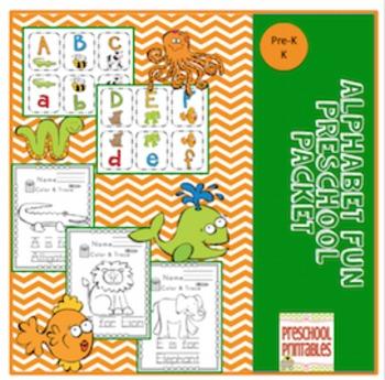 Preschool Packet Fun Alphabet