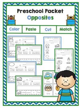 Preschool Packet Opposites
