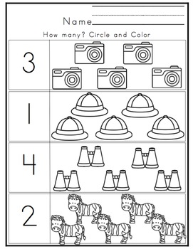 Preschool Packet Safari Fun