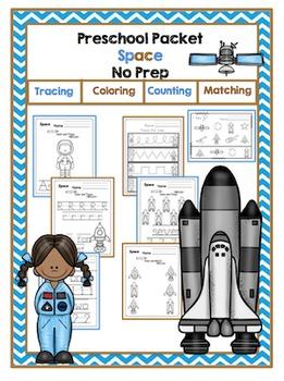 Preschool Packet Space No Prep