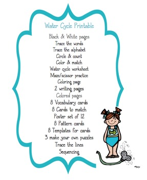 Preschool Packet Water Cycle