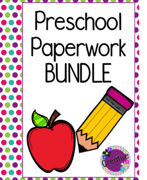 Preschool Paperwork BUNDLE