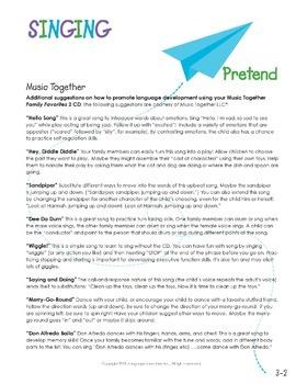 Preschool Parent Handout Unit: Singing