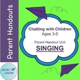 Preschool Parent Handout Unit: Singing