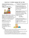 Preschool Parent Handout for Language Facilitation - Engli
