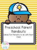 Preschool Parent Handouts: Ideas for Parents to do at Home