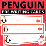 Penguins Free Pre-Writing Cards | Penguin Fine Motor Activity for Preschool