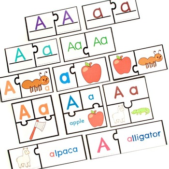 Preschool Alphabet and Phonics Puzzles (12 Sets)