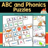 Preschool Alphabet and Phonics Puzzles (12 Sets)