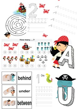 Preschool Pirate Theme Worksheets