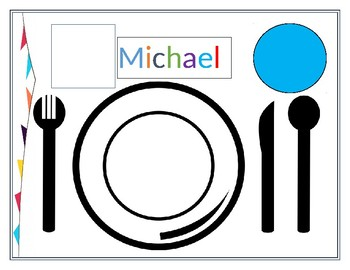 image relating to Printable Placemats Templates named Placemat Template Worksheets Training Supplies TpT