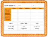 Preschool Planner Pages