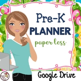 Preschool Planner for Google Drive in Preppy Prints Theme