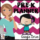 Preschool Planner for Google Drive with Melonheadz friends & chevron theme