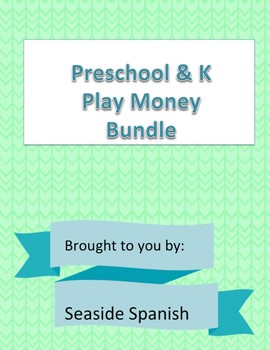 Preschool Play Money Set