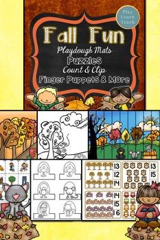 Fall Playdough Mats, Game boards, Activities Bundle