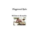 Preschool Playground Rules