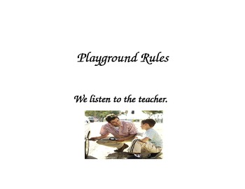 Preschool Playground Rules