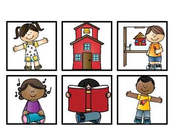 Preschool Pocketchart Chant for the beginning of school