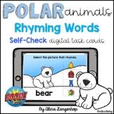 Preschool Polar Animals Rhyming Words  | Digital BOOM Cards™