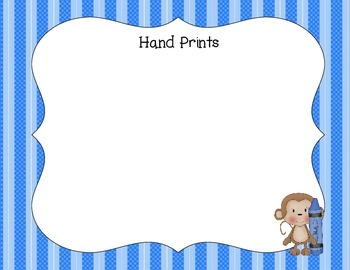 Preschool Portfolio-Monkeys With Stripes