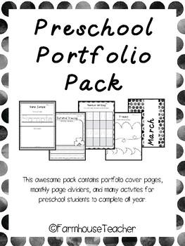 Preschool Portfolio Pack By Farmhouseteacher Teachers