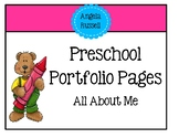 Preschool Portfolio Pages - All About Me