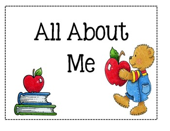 Preschool Portfolio Pages - All About Me