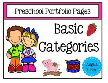 Preschool Portfolio Pages ~ Basic Categories