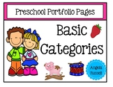 Preschool Portfolio Pages - Basic Categories
