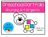 Preschool Portfolio Pages - Rhyming Art Projects