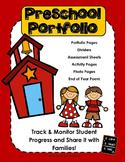 Preschool Portfolio with Work Samples