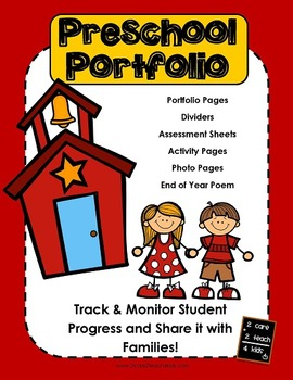 Preschool Portfolio with Work Samples