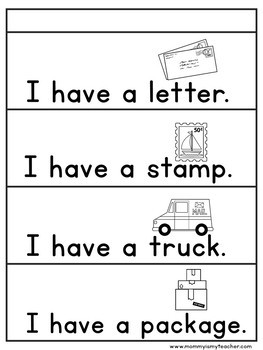Preschool Post Office Theme Unit Printables
