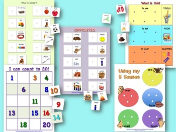 Preschool Language Games SET TWO for Pre-K and Special Education
