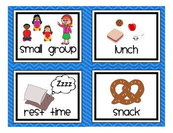 Preschool / Pre-K Daily Visual Schedule Cards